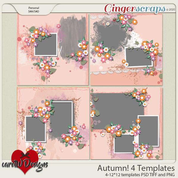 Autumn! 4 Templates by CarolW Designs