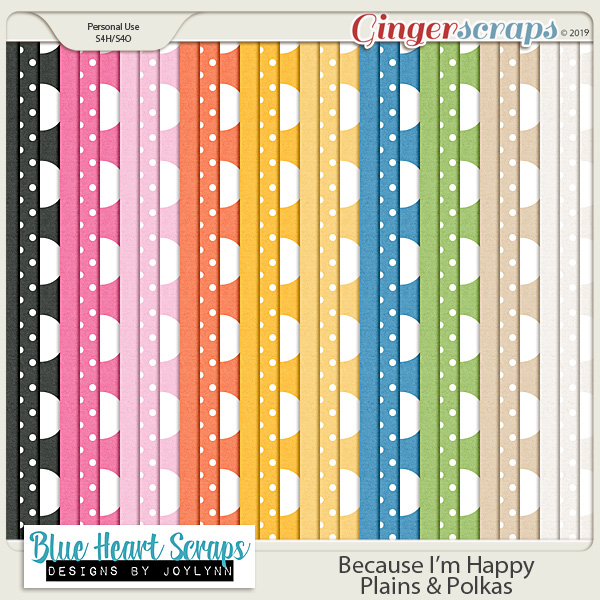 Because I'm Happy Plains & Polka Papers