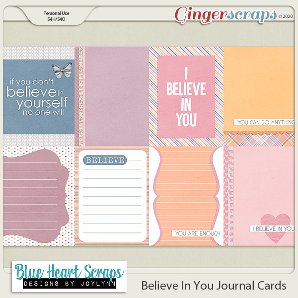 Believe in You Journal Cards