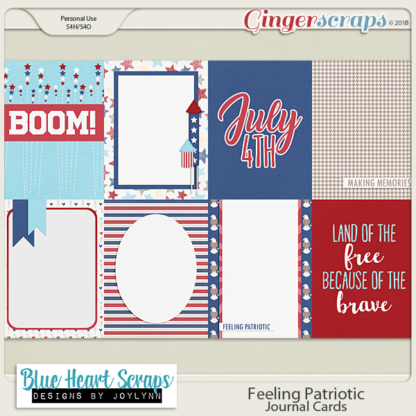 Feeling Patriotic: Journal Cards
