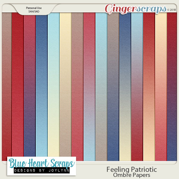 Feeling Patriotic: Ombre Papers