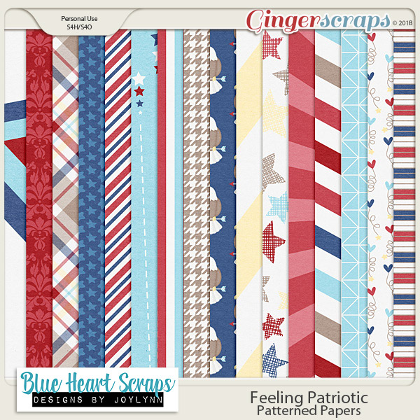 Feeling Patriotic: Patterned Papers