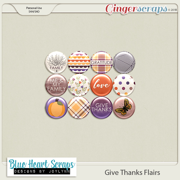 Give Thanks Flair Pack