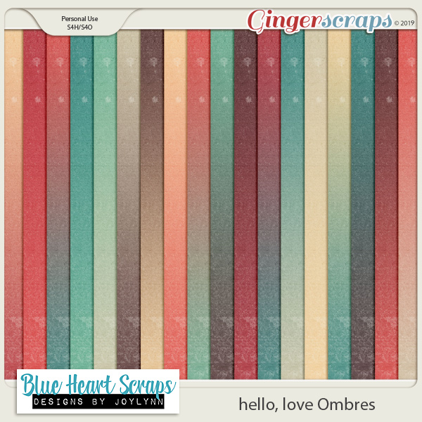 hello, love Ombre Papers