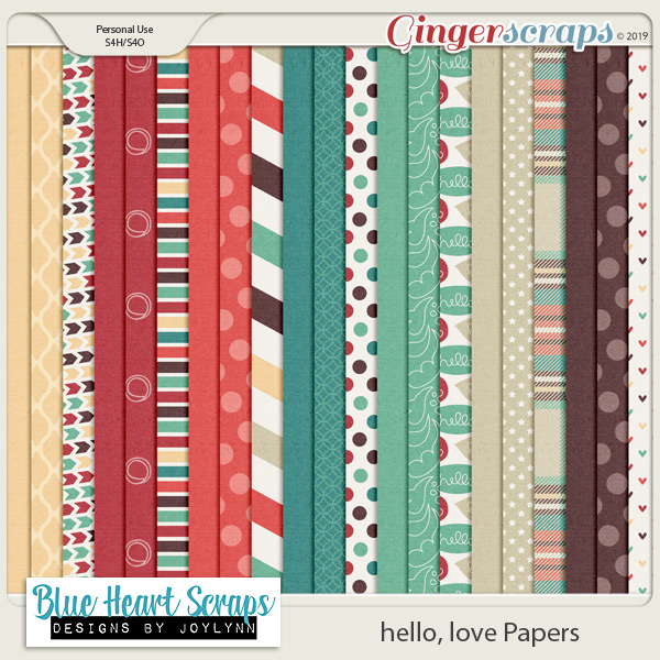hello, love Paper Pack