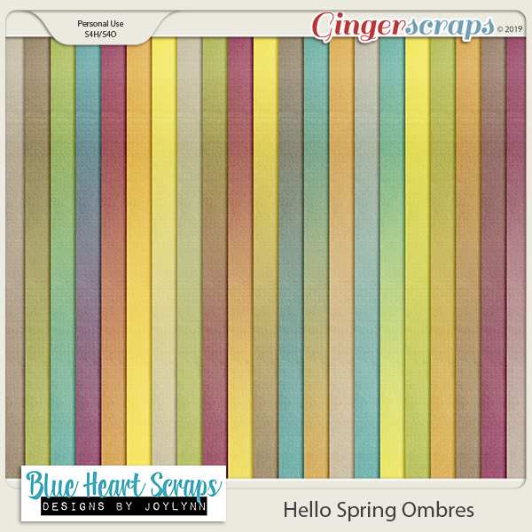 Hello Spring Ombre Papers