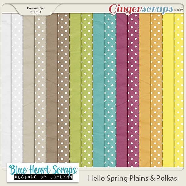 Hello Spring Plain & Polka Papers