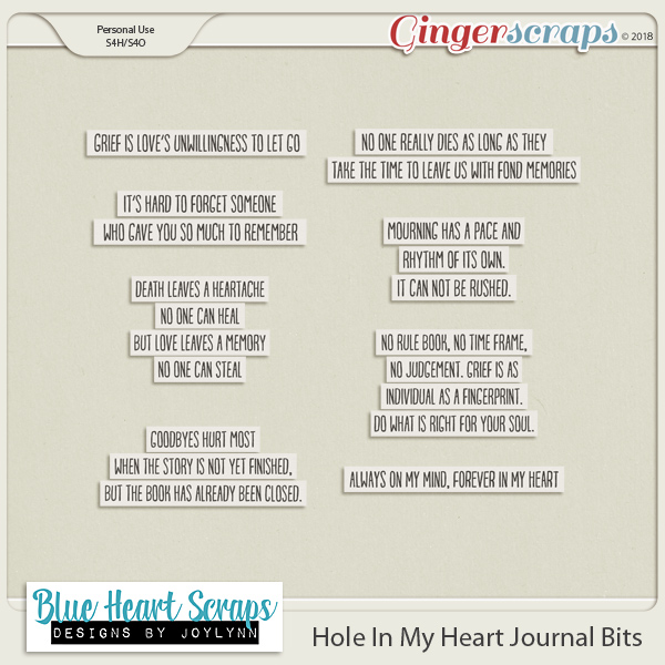 Hole In My Heart Journaling Pack