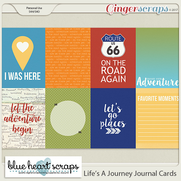 Life's A Journey Journal Cards