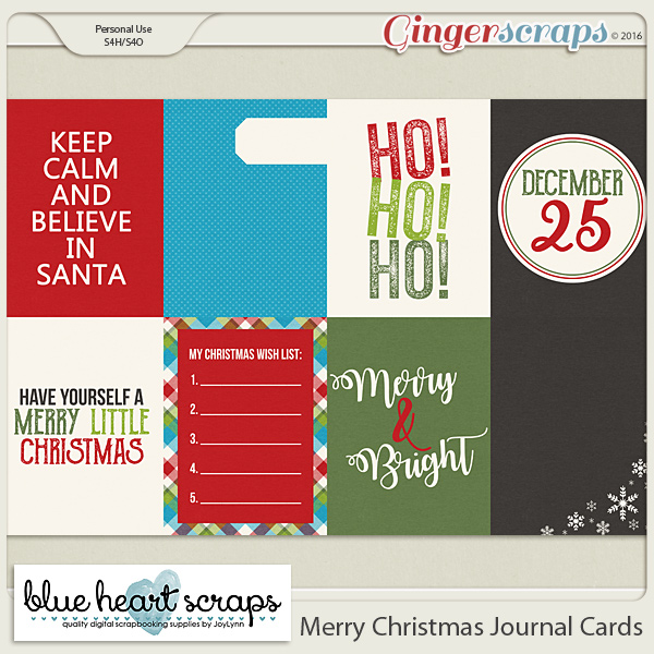 Merry Christmas Journal Card Pack