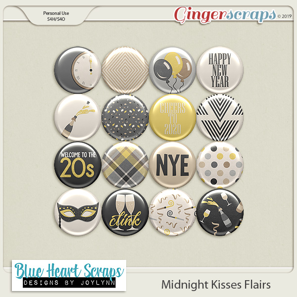 Midnight Kisses Flairs