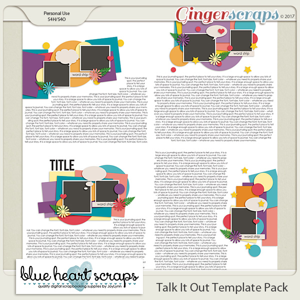 Talk It Out Template Pack