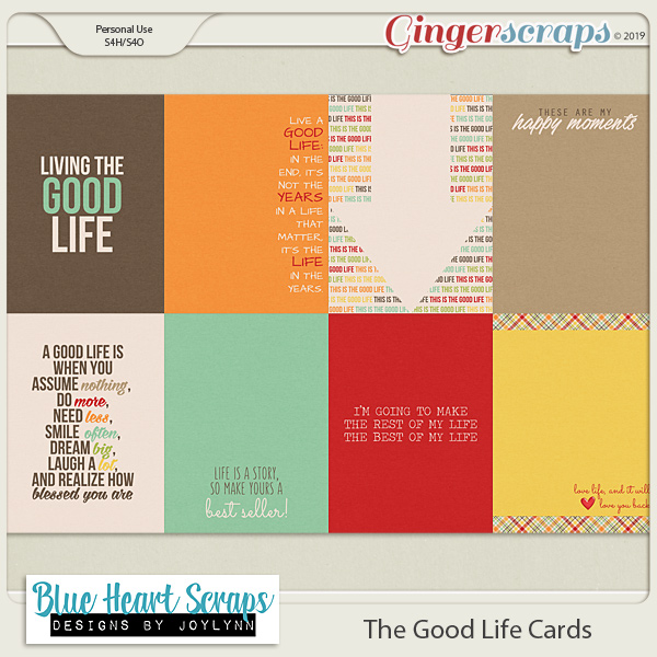 The Good Life Journal Cards