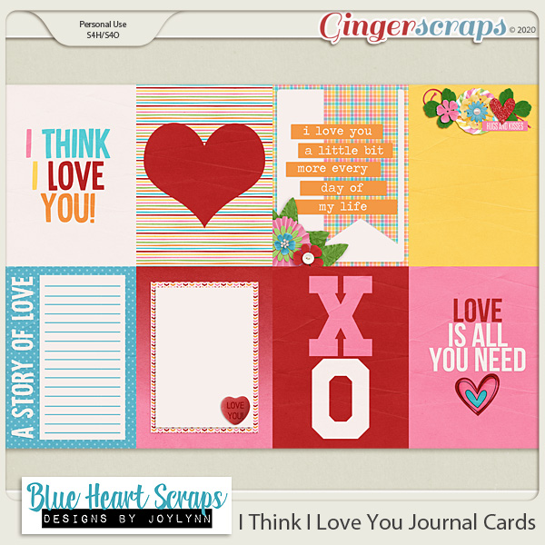 I Think I Love You Journal Cards