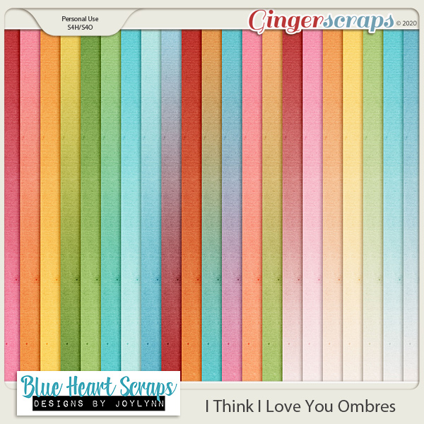 I Think I Love You Ombre Papers