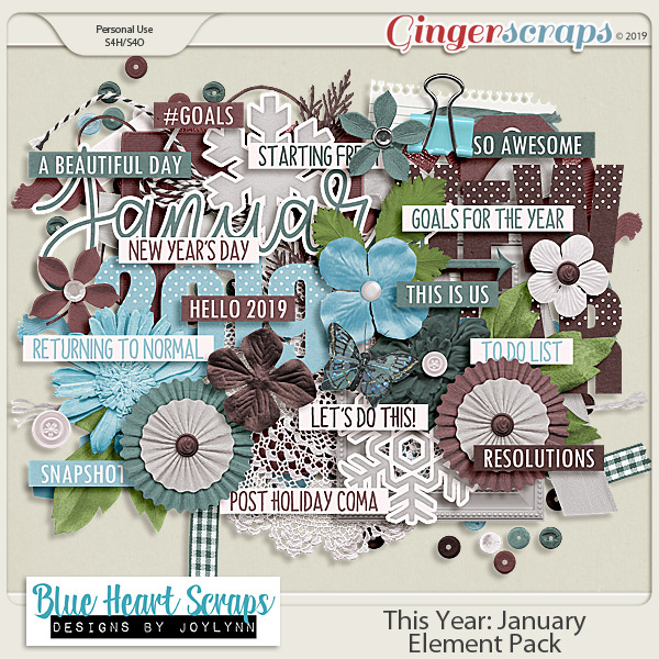 This Year: January Element Pack