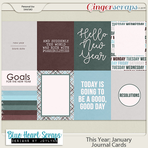 This Year: January Journal Card Pack
