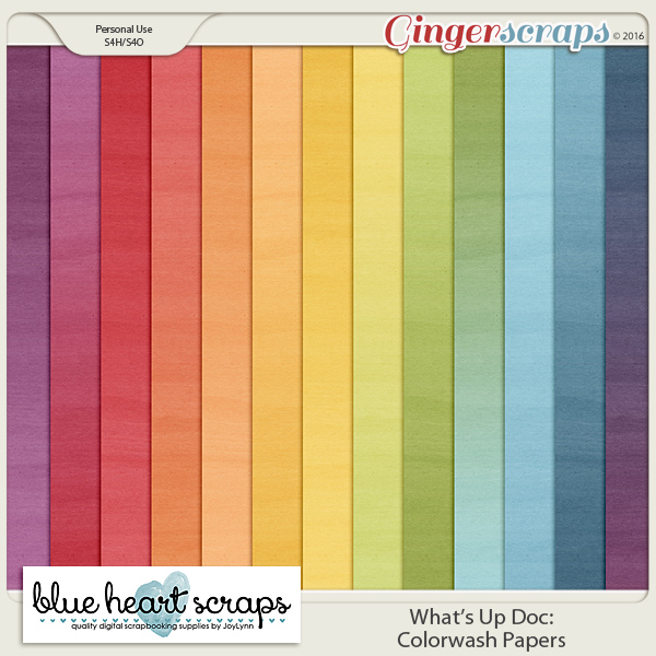 What's Up Doc: Colorwash Papers