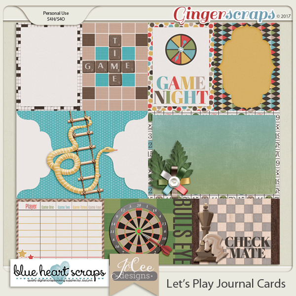 Let's Play Journal Cards by Blue Heart Scraps and JoCee Designs