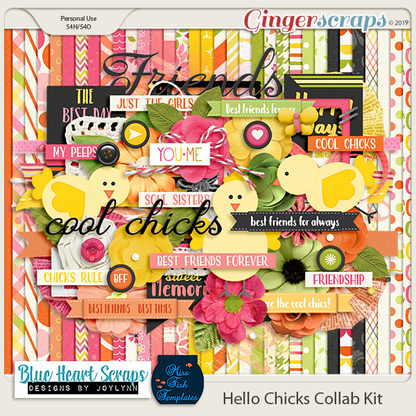 Cool Chicks Digital Scrapbooking Kit by Blue Heart Scraps and Miss Fish