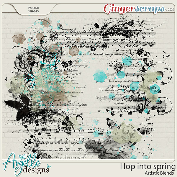 Hop into Spring. Artistic Blends by Angelle Designs