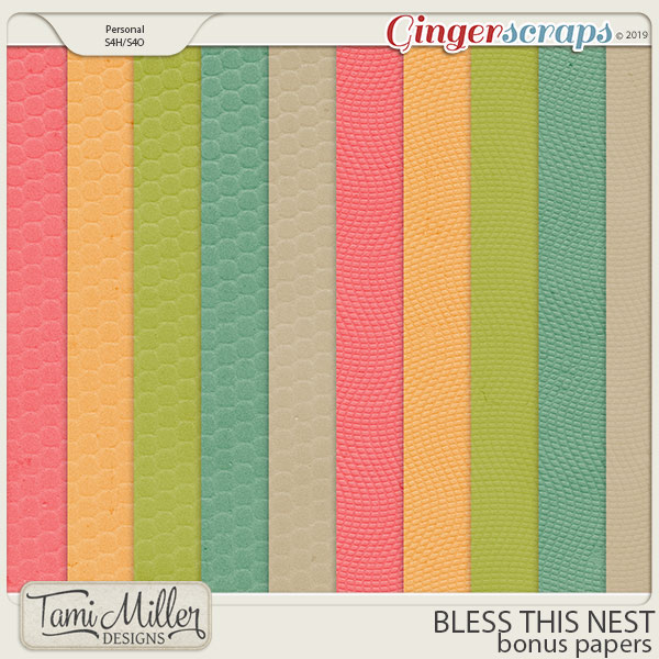 Bless This Nest Bonus Papers by Tami Miller Designs