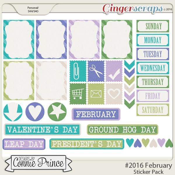 #2016 February - Sticker Pack