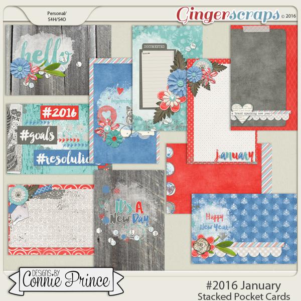 #2016 January - Stacked Pocket Cards
