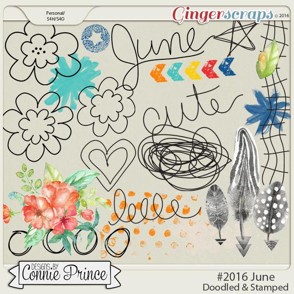 #2016 June - Doodles & Stamps