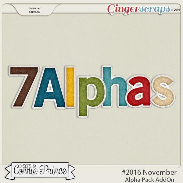#2016 November - Alpha Pack AddOn