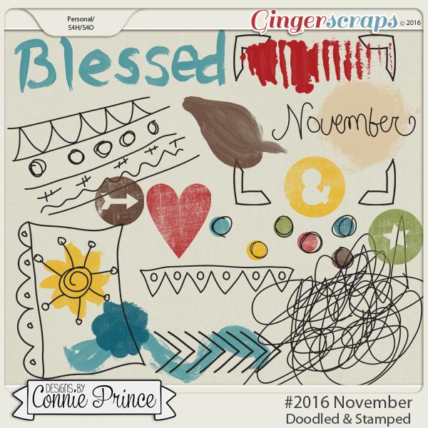 #2016 November - Doodles & Stamps