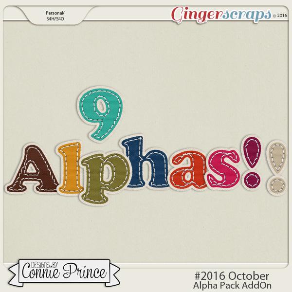 #2016 October - Alpha Pack AddOn