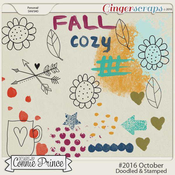 #2016 October - Doodles & Stamps