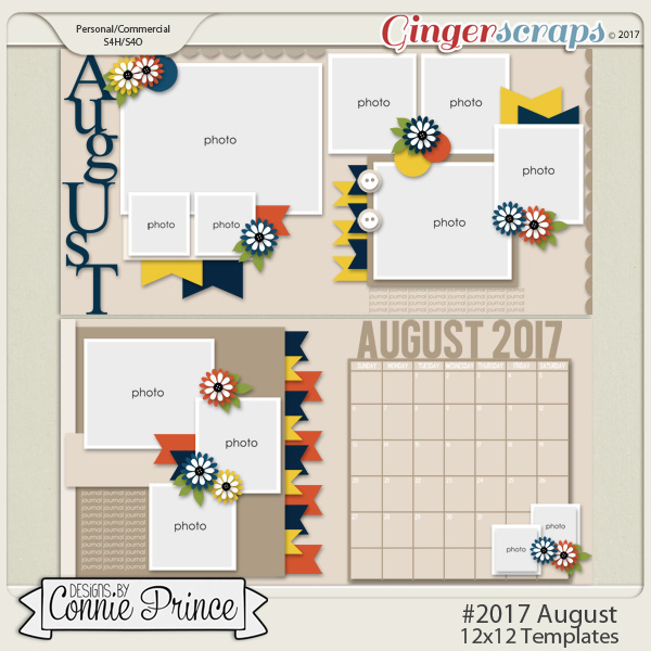 #2017 August - 12x12 Template Pack (CU Ok)