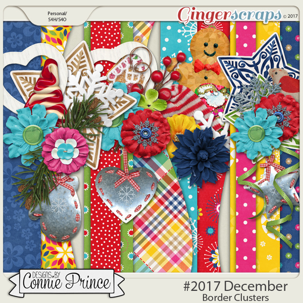 #2017 December - Border Clusters by Connie Prince