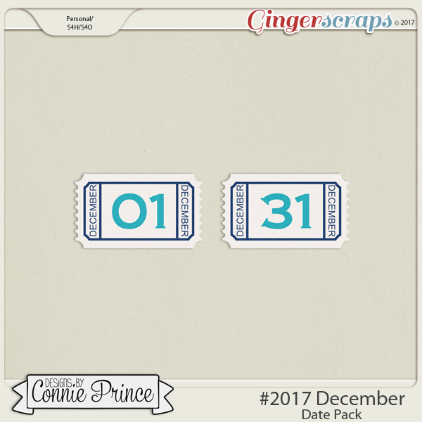 #2017 December - Date Pack by Connie Prince