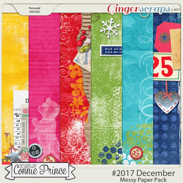 #2017 December - Messy Papers by Connie Prince