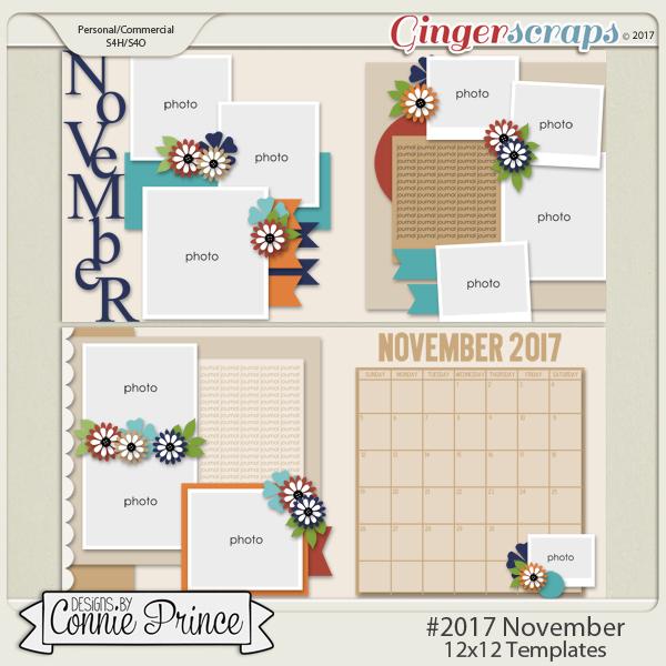 #2017 November - 12x12 Template Pack (CU Ok)