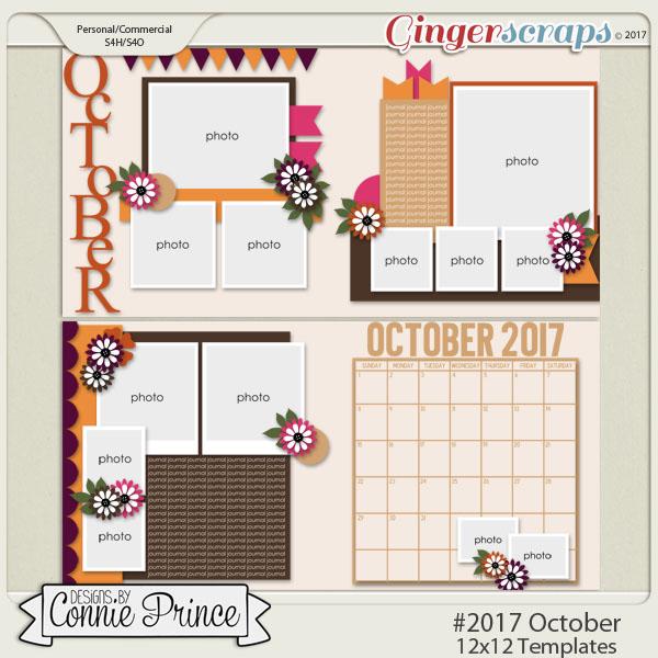 #2017 October - 12x12 Template Pack (CU Ok)