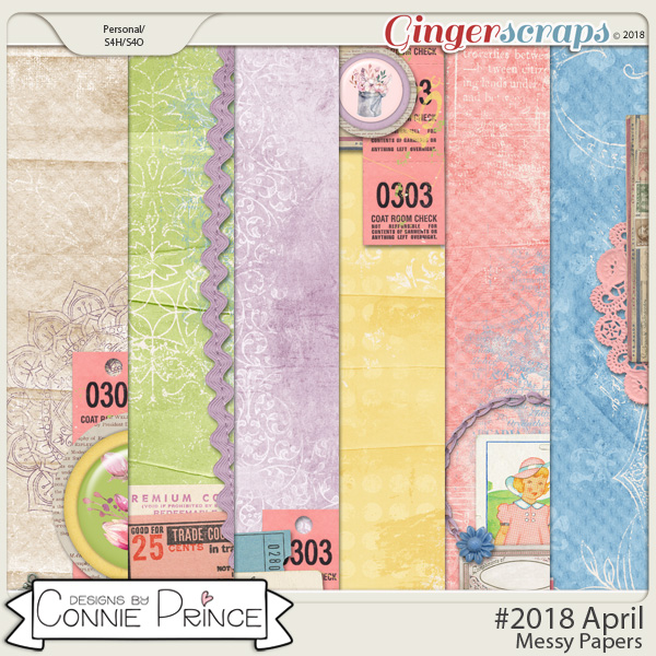 #2018 April - Messy Papers by Connie Prince