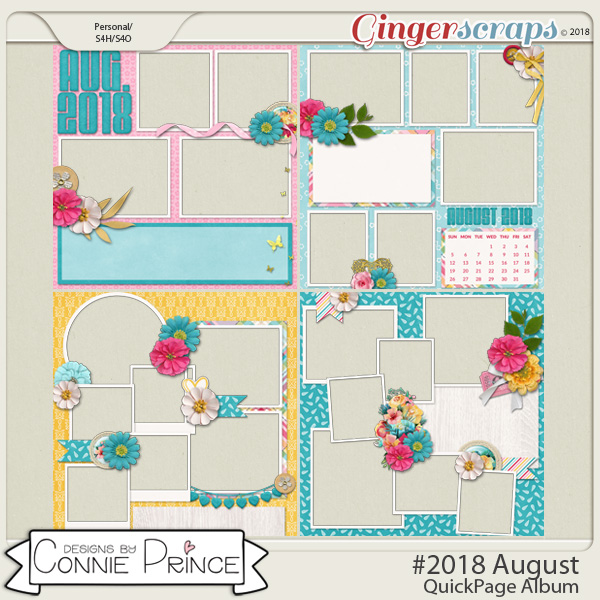#2018 August - Quick Pages by Connie Prince