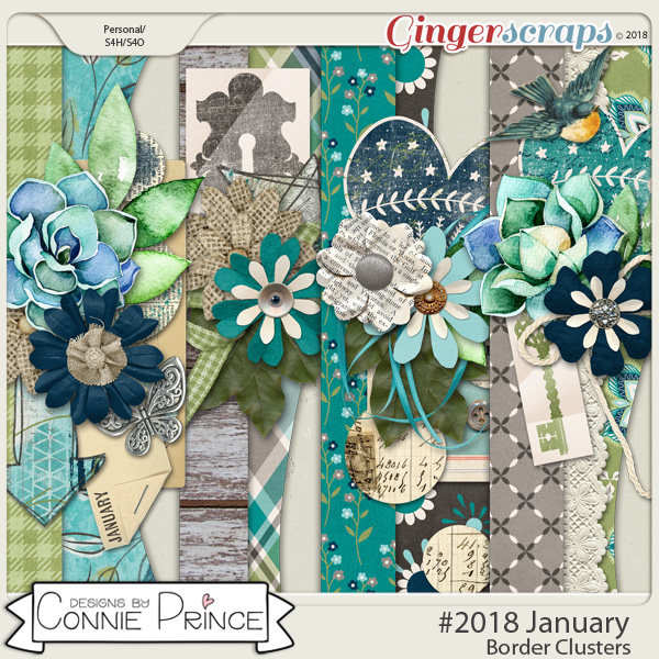 #2018 January - Border Clusters by Connie Prince