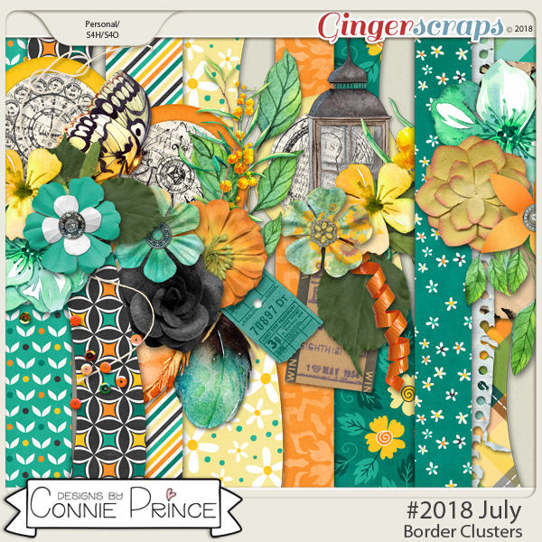 #2018 July - Border Clusters by Connie Prince