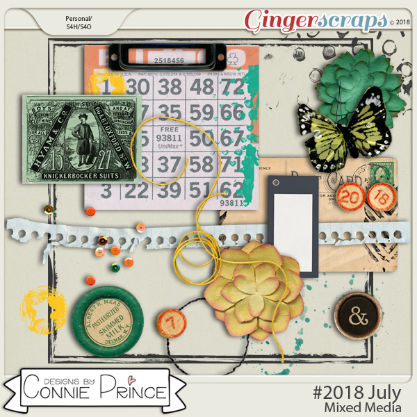 #2018 July - Mixed Media by Connie Prince