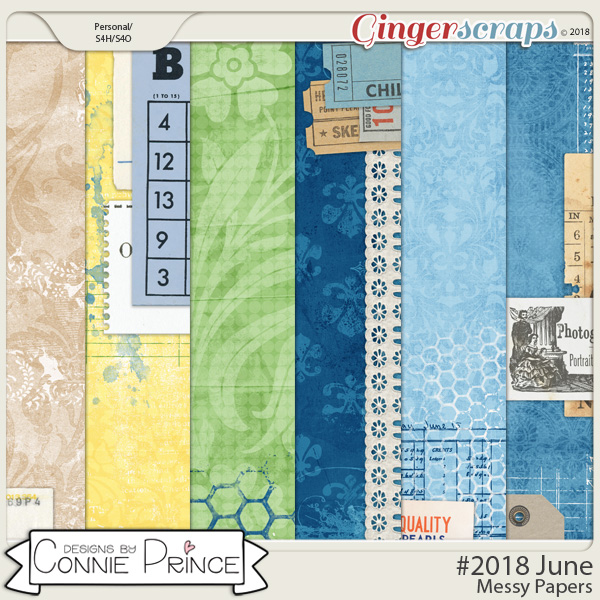 #2018 June - Messy Papers by Connie Prince