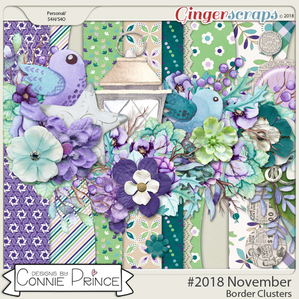 #2018 November - Border Clusters by Connie Prince