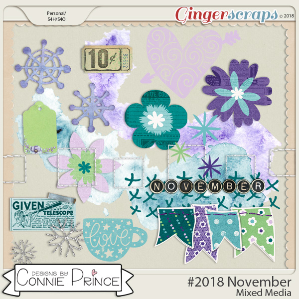 #2018 November - Mixed Media by Connie Prince