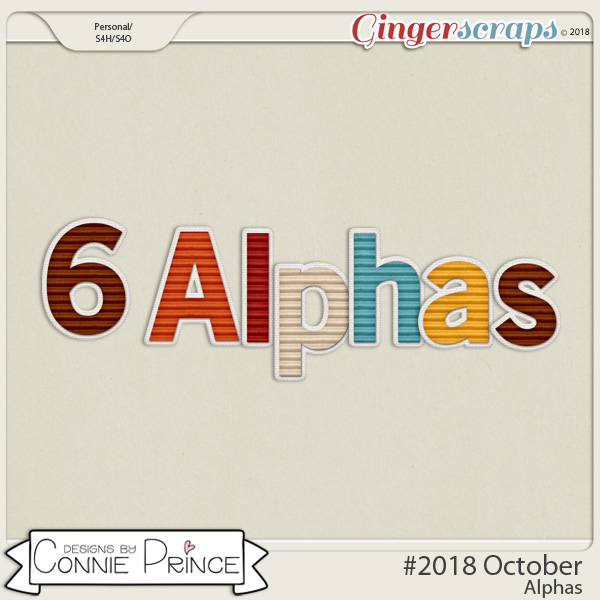 #2018 October - Alpha Pack AddOn by Connie Prince