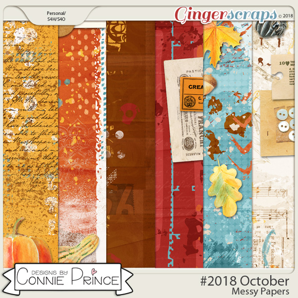 #2018 October - Messy Papers by Connie Prince