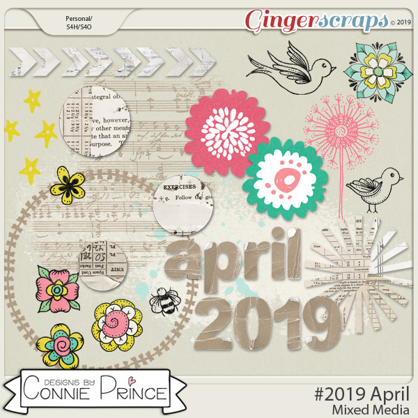 #2019 April - Mixed Media by Connie Prince